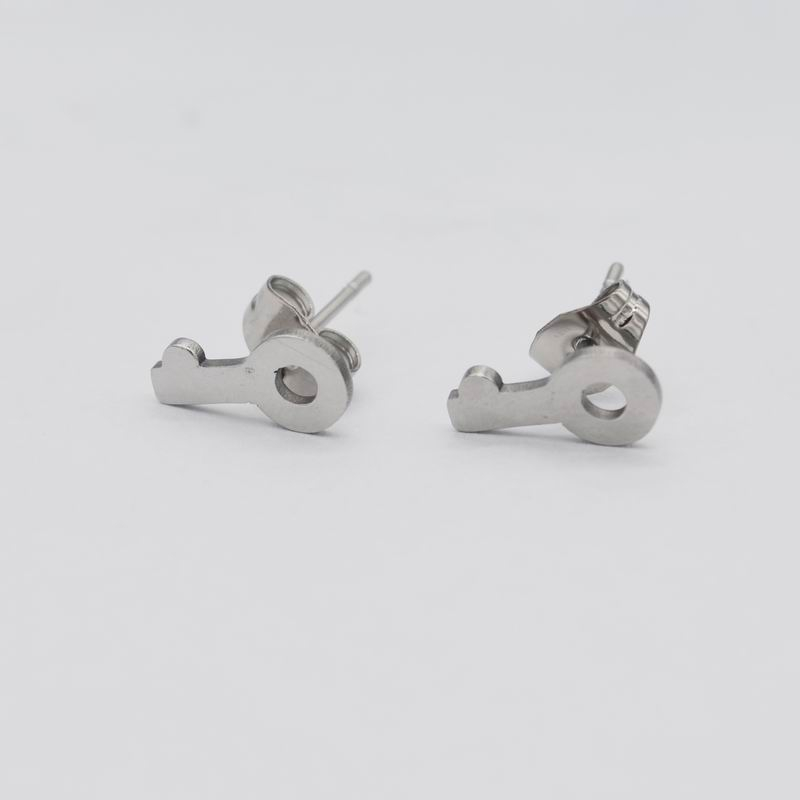 Punk Jewelry Key Shaped Stud Earrings For Women and Men Earrings