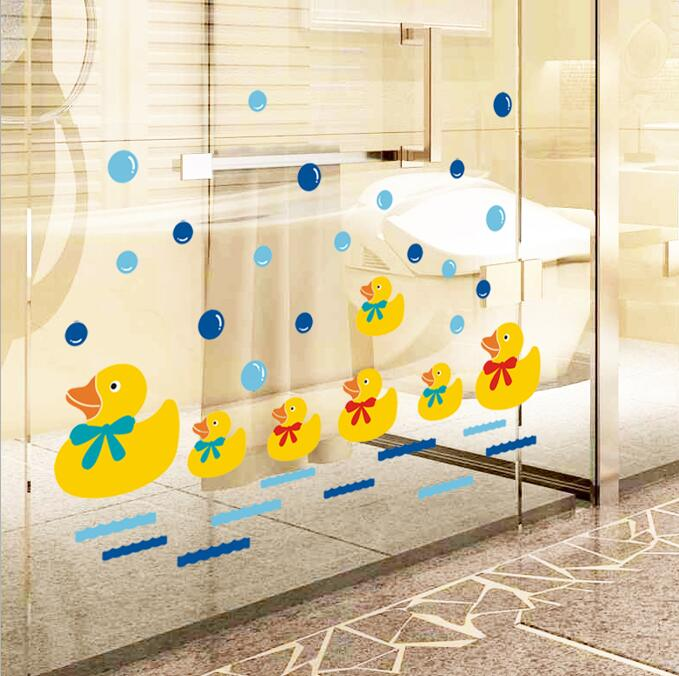 Yellow Rubber Duck DIY Wall Stickers For Nursery Kids Room Wall ...