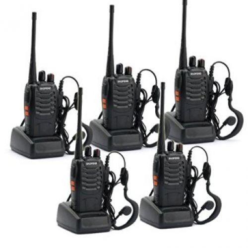 Paquet de 5 BaoFeng BF-888S longue portée UHF 400-470 MHz 5 W CTCSS DCS Portable Portable