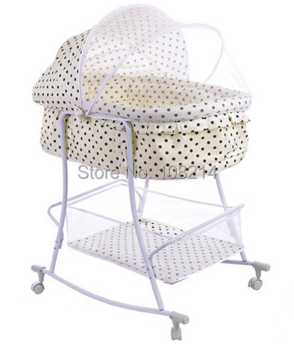 Automatic Naturally Swing Baby Cot Baby Cradle Bed Beige Color With Dot Baby  Sleeping Basket Baby Bed With Mosquito Net Hot Sale In Cradle From Mother  ...