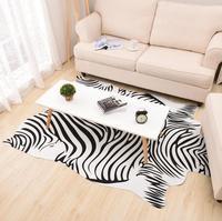 140X200cm Large Size Zebra/Cow Carpet PU Velvet Imitation Leather Rugs Animal Skins Natural Shape Carpet Decoration Mat