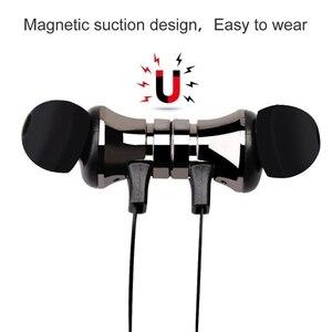 Image 4 - スポーツランニングbluetoothイヤホンワイヤレスヘッドセットヘッドフォンマイク低音ステレオ磁気blutoothのイヤホン携帯電話