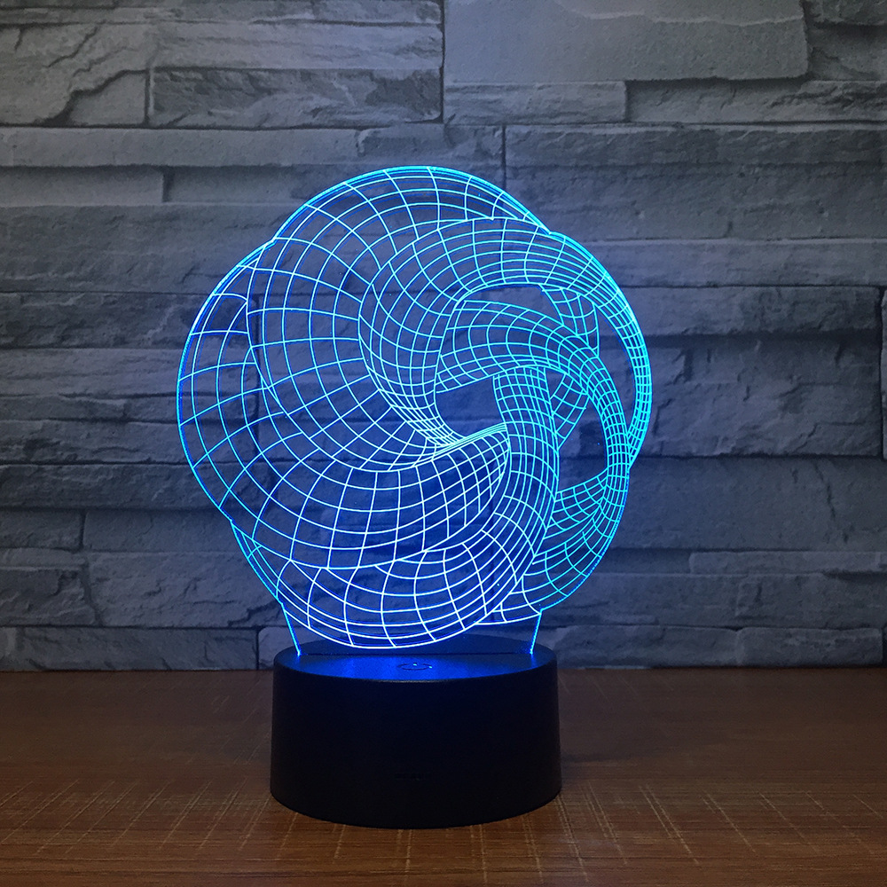 Art Abstraction 3D Lamp 7 Color Led Night Lamps For Kids Touch Led Usb Table Lampara Lampe Baby Sleeping Nightlight Party Gift