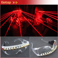 Hot Sale Red Laser Glasses 12 pcs lasers Club DJ Glasses Party glasses for Christmas Event & Party Supplies Free Shipping