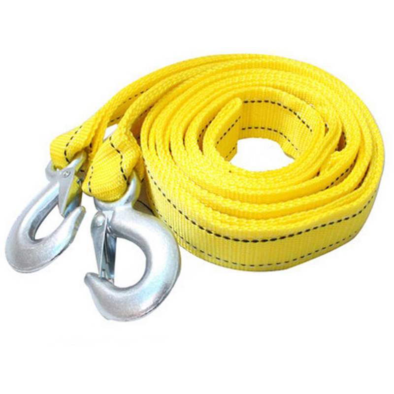 300cm 4 Tons Universal Car Tow Cable Towing Strap Connector Hooks Rope Furniture Moving Belt for Boat Car Truck Trailer Jeep SUV