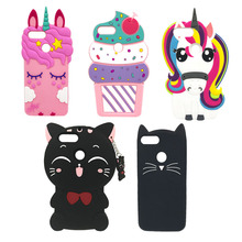 For Huawei P9 Lite Mini Case P9Lite Silicon Cover 2017 Cute Unicorn Cat Phone