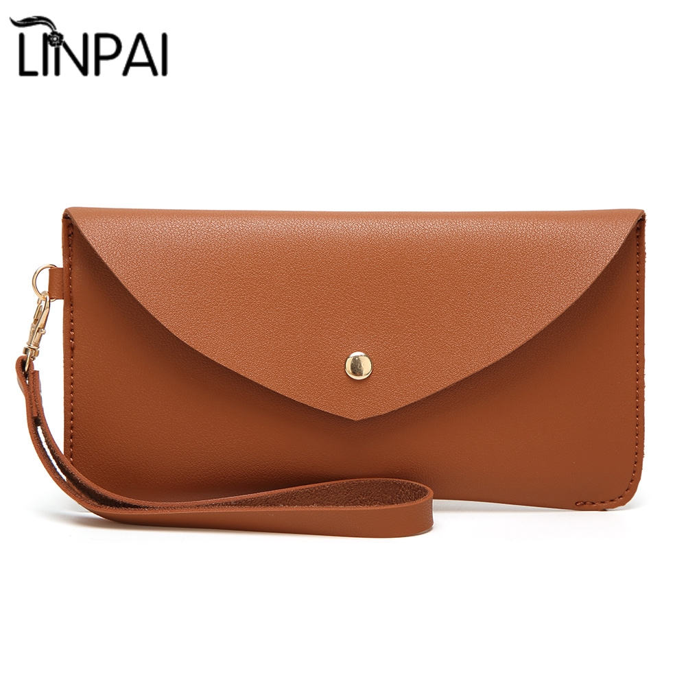 New Korean Simple Style Women Mini Wallet Zipper Bag Vintage Wallet Purse Fashion Card Package Phone Envelop Bag