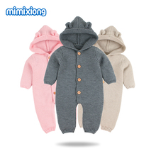 Baby Rompers Knitted Long Sleeve Knit Newborn Bebes Boys Girls Jumpsuits Onesie Autumn Winter Toddler Children Overalls Clothing 3 colors summer rompers for children newborn baby girls boys clothes cotton short sleeve bebes moon star jumpsuits clothing