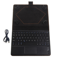 Black Wireless Bluetooth Keyboard With Touchpad PU Leather Box For 8 To 8 9 Inch Tablet