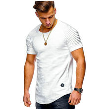 2019 Nieuwe T-Shirt Mannen Solid Slim Fit T Shirt Korte Mouw Zomer O Hals T Shirts Voor Mannen Streetwear Hip hop Casual Tops Tees(China)