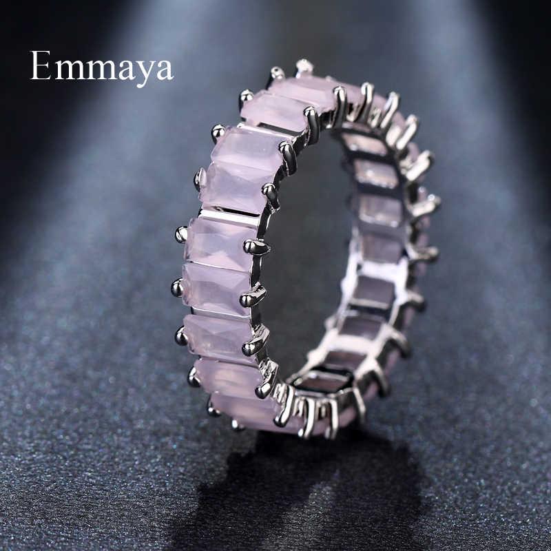 EMMAYA серебряного цвета уникальный дизайн CZ Кольцо проложили австрийский Цирконий Стильное женское кольцо ювелирные изделия