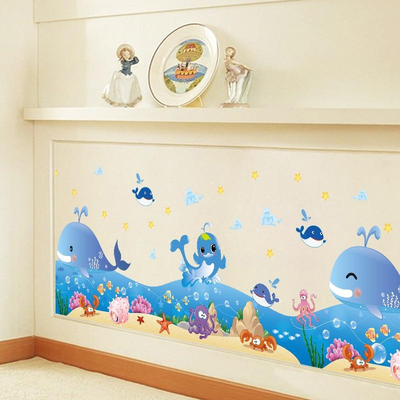 Bunte Sea World Wand Grenze Aufkleber Aufkleber Cartoon ...
