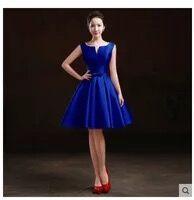871754d439f Mode Dunkelgrün Blau Prom Kleider Kurze 2019 Günstige Prom Kleid Scalloped  Satin Lace-Up Cups Sexy abend Party Kleider