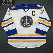 f19a61f4f MeiLunNa Custom ECHL Norfolk Admirals Hockey Jerseys 9 Harrison 2 Schartz  33 Reichenbach Home Road Sewn