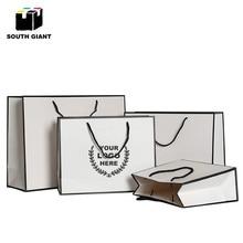 Бумажные подарочные пакеты с ручками, 100 шт., прочные черные свадебные украшения белого цвета, сделай сам, белые бумажные пакеты