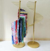 New type of iron craftsmanship silk scarf rack, rack display belt