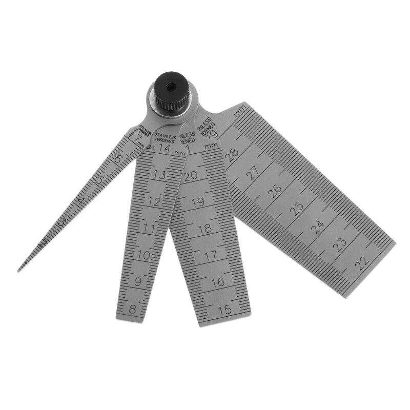 0mm-29mm Écart Mesure Trou Conique Jauge Règle Profondeur L'inspection Outil 80mm L15