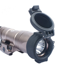 Airsoft Senter IR Filter 25 Mm M300 + M600 Softair Berburu Pramuka Aksesoris Lampu IR Cover Hitam WEX600 Senjata Lampu(China)