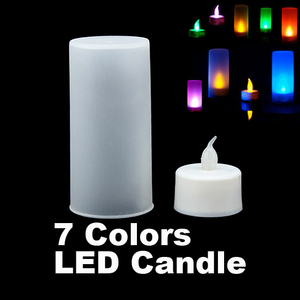 6/piece/lot New LED Electronic Color Change Flicker Candle Light smokeless tea light with lampshade For Home Decorative
