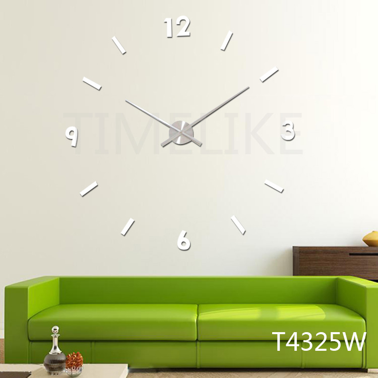 modern 3d wall clock big size diy quartz large clock hands wall stickers living room decoration