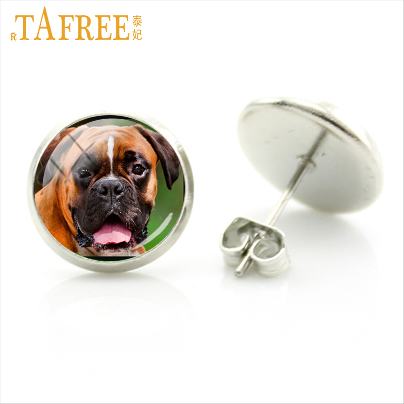 US $0 72 28% OFF|TAFREE lovely dog stud earrings boxer jack russell  springer cocker spaniel French bulldog friese lab poodle women jewelry  DG21-in