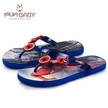 Детские сандалии лето мультфильм мальчиков пляжные тапочки сандалии для детей модная обувь Человек-паук Капитан Америка шлепанцы для мальчика