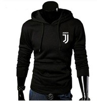 2017 Brand New Fashion Juventus Print Sportswear Men Hoodies Pullover Hip Hop Fleece Mens Tracksuit Sweatshirts