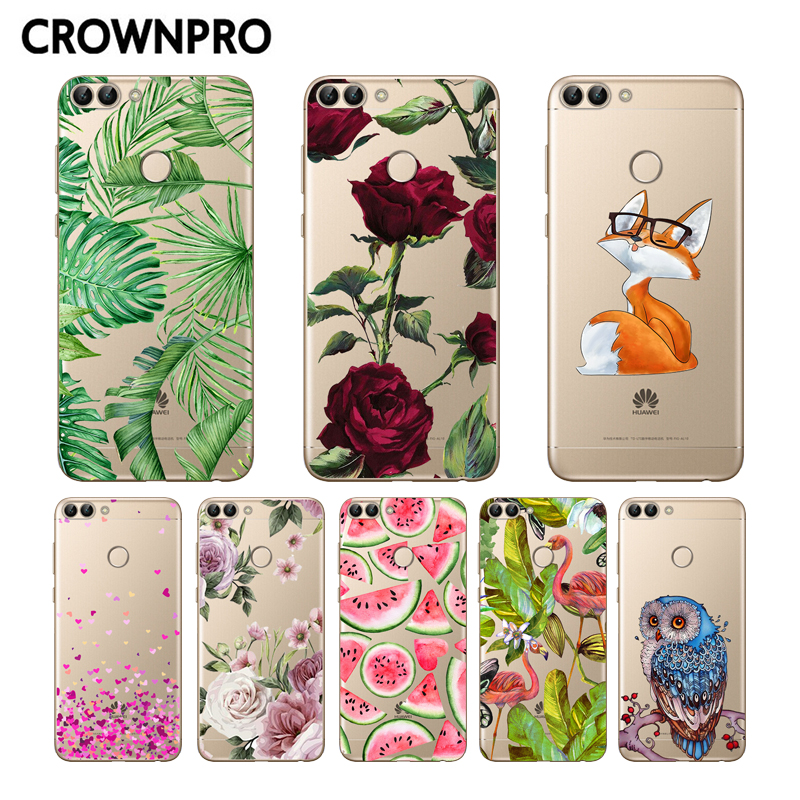 CROWNPRO sFOR Huawei P Smart 2018 Case Silicone Soft TPU Cover P Smart Coque Back Phone FOR Funda Huawei P Smart 2019 Cases