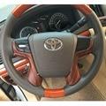 Plata/Color de Madera Interior de Dirección Cubierta Decoración Para Toyota Land Cruiser 200 LC200 Accesorios