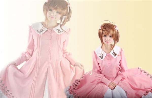 New Clothing Hot Anime Card Captor Sakuran Pride Glide Sakura Uniform Cosplay Costume Customized