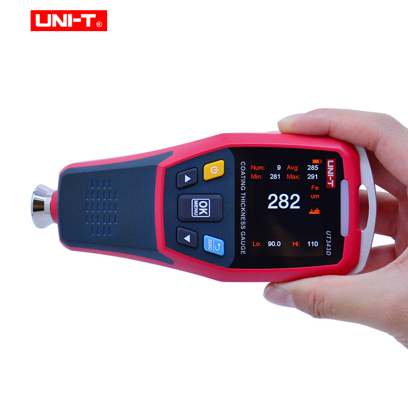 Image 3 - Thickness Gauge UNI T UT343D  Digital Coating Gauge Meter Cars Paint Thickness Tester  FE/NFE measurement with USB Data FunctionWidth Measuring Instruments   -