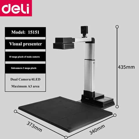 deli 15151 ocr 10 mega pixels de alta definicao visual presenter apresentador visual a3 documentos