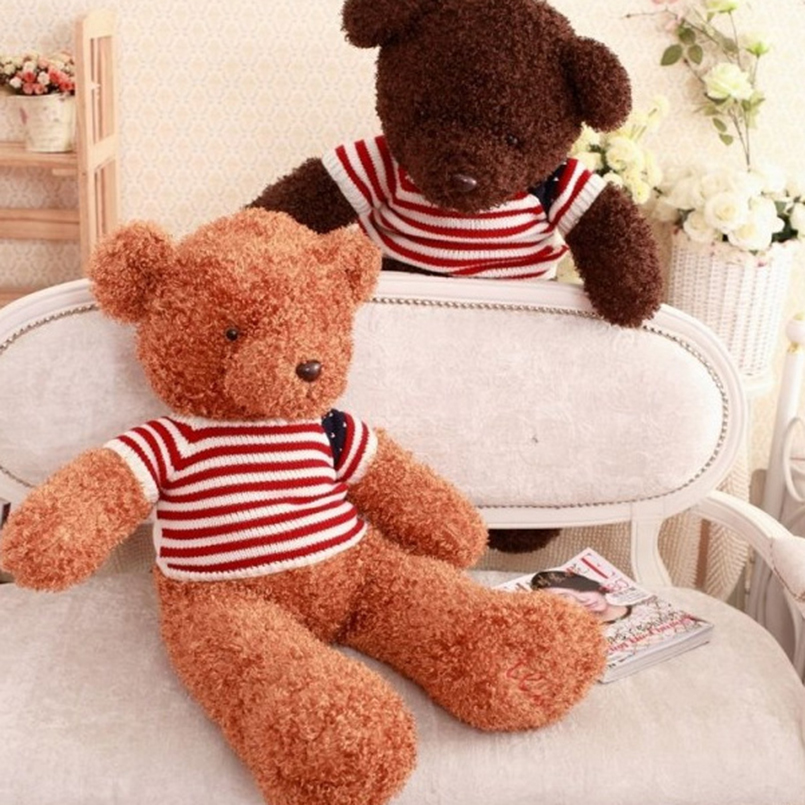 110cm High Quality giant teddy bear life size Lovely teddy bear stuffed Plush toy Cute Christmas valentine gift baby boy toys 78 200cm giant size finished stuffed teddy bear christmas gift hot sale big size teddy bear plush toy birthday gift