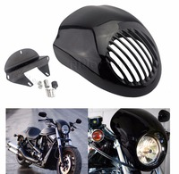 Black Grill Headlight Fairing Mask Front Mount For Harley Dyna Sportster 883 XL