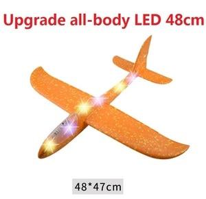 Lance mão Lançamento Planador Avião EPP avião De Espuma Ao Ar Livre Crianças Brinquedos 48 cm Lançamento Interessante Jogando Inercial Modelo Dom brinquedos