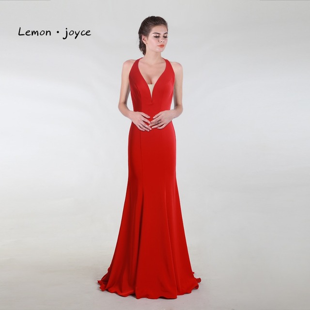 Elegant Evening Dress 2018 Mermaid Red Long Prom Party Gowns For ...