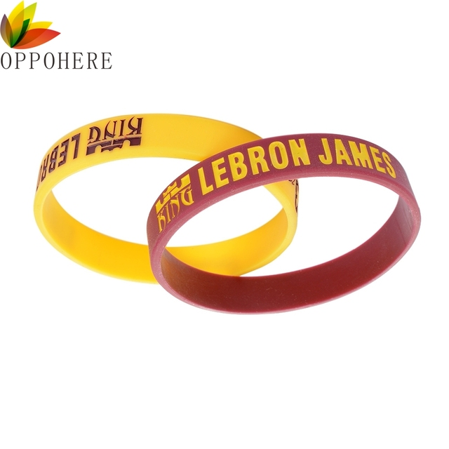 various colors 4ad41 ff565 OPPOHERE 2Pcs LEBRON JAMES 23 Soft Silicone Wristband Rubber Bracelet  Basketball Sport Fan