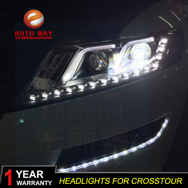 Lampe de tête de style de voiture pour Honda Crosstour phares Crosstour 2010-2013 phare LED Option LED Angel Eye Bi xénon LED