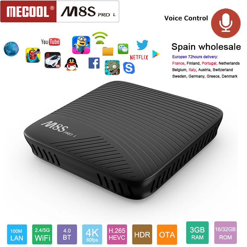 M8S PRO L Amlogic S912 Octa core android 7.1 tv box 3GB RAM 16/32GB ROM 2.4/5G wifi Bluetooth4.1 HDTV output 4K*2K media player 10pcs m8s pro l amlogic s912 3gb 16gb 32gb android 7 1 tv box youtube 4k octa core k d 17 3 smart media player better x96 mini