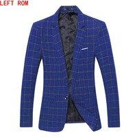 2017 Autumn Fashion slim fit Mens blazer Burst models high quality Suit Jacket for Men free delivery Male blazers size 4XL 5XL