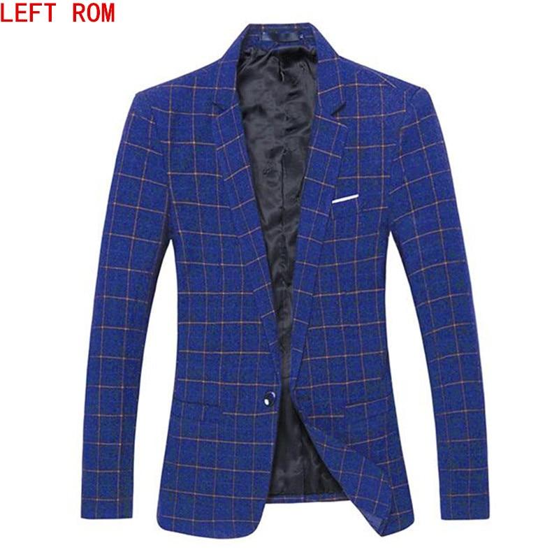 2017 Herbst Fashion Slim Fit Herren Blazer Burst Modelle Hohe Qualität Anzug Jacke Für Männer Kostenlose Lieferung Männlichen Blazer Größe 4xl 5xl