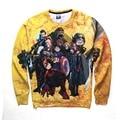 3D Cartoon Sweatshirts Men Women One Piece Hoodies Yellow Color Charater Streetwear Printed Top Tees Long Sleeve Autumn Hoodie