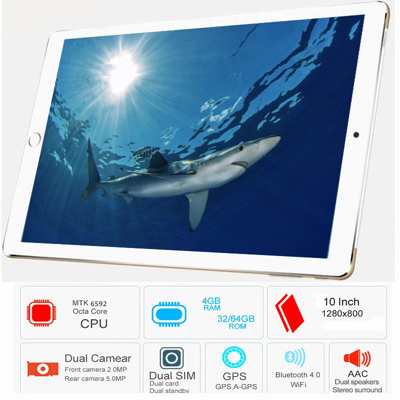 2019 CARBAYTA P80 10.1' Tablets Android 6.0 8 Octa Core Camera Dual SIM The Tablet WIFI OTG GPS Google Bluetooth Phone ROM 32GB