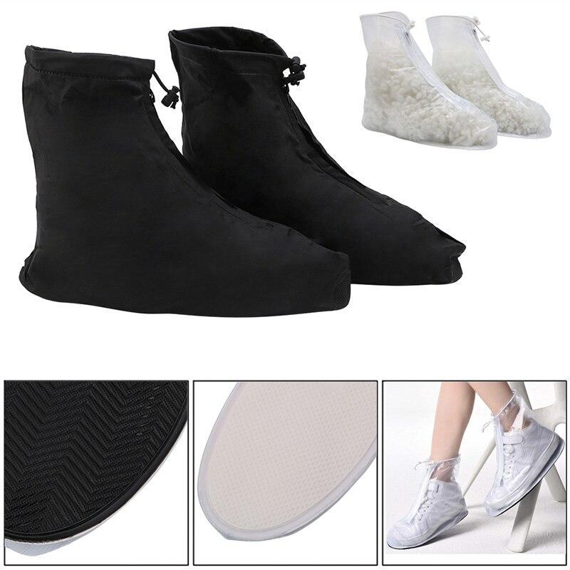купить THINKTHENDO Waterproof Reusable Rain Gear Boots Snow Shoe Covers Shoes Overshoe по цене 320.95 рублей