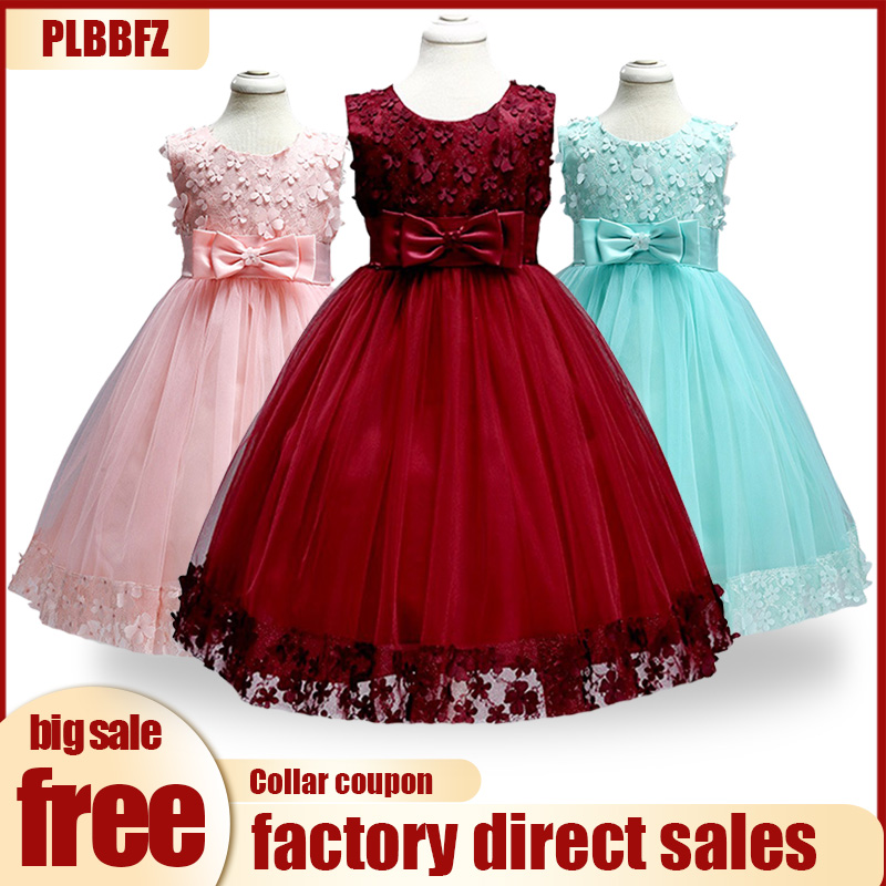 Wedding Party Dress. Retail Appliques Draped Sequined Flowers Girl Dresses  With Ribbon Bow Elegant Lace Flower Bow First Communion Dresses LL314 ea22c8a1a2c6