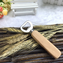 100pcs Personalized Wood Handle Beer Bottle Opener Customize Engraved Cook Tools For Wedding Groomsmen Gifts And Favors ZA1273