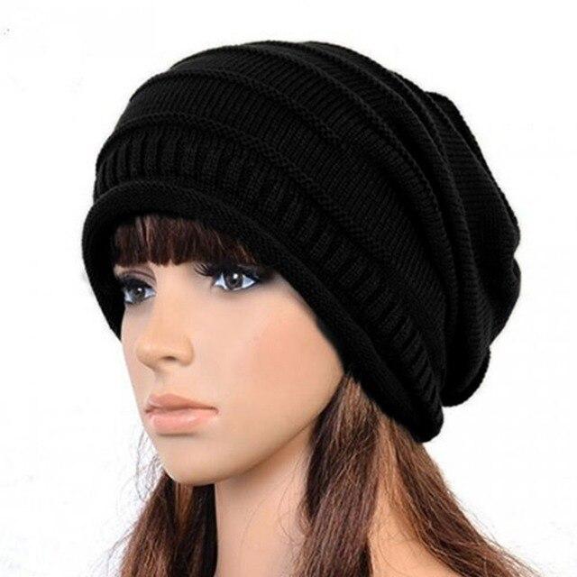 4dc3702e94c 2017 Hot caps bonnet femme Women Men Winter Warm Knitted Crochet Baggy Beanie  Hat Skullies Cap Hiphop hats W1 Q1