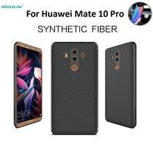 """Dla Huawei Mate 10 Pro Nillkin włókno syntetyczne z powrotem z tworzywa sztucznego twarda obudowa tylna z poliwęglanu przypadku mate10 pro magnetyczny futerał na telefon 6.0 """"cal"""