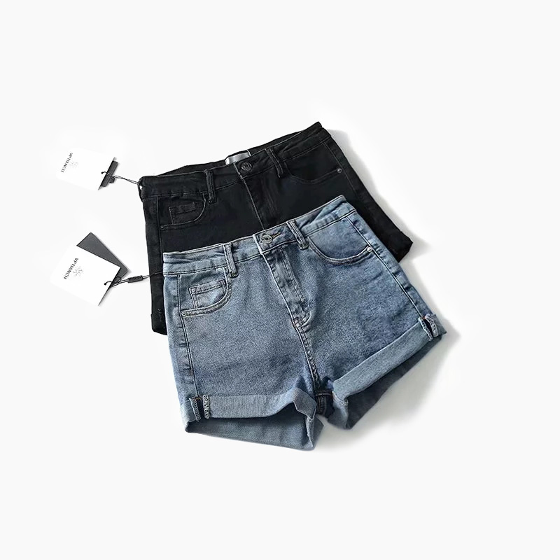 High Waist Denim   Shorts   for Women Vintage Sexy Stretch   Shorts   Jeans Women Denim   Shorts   Feminino Slim   Shorts   Jeans Female