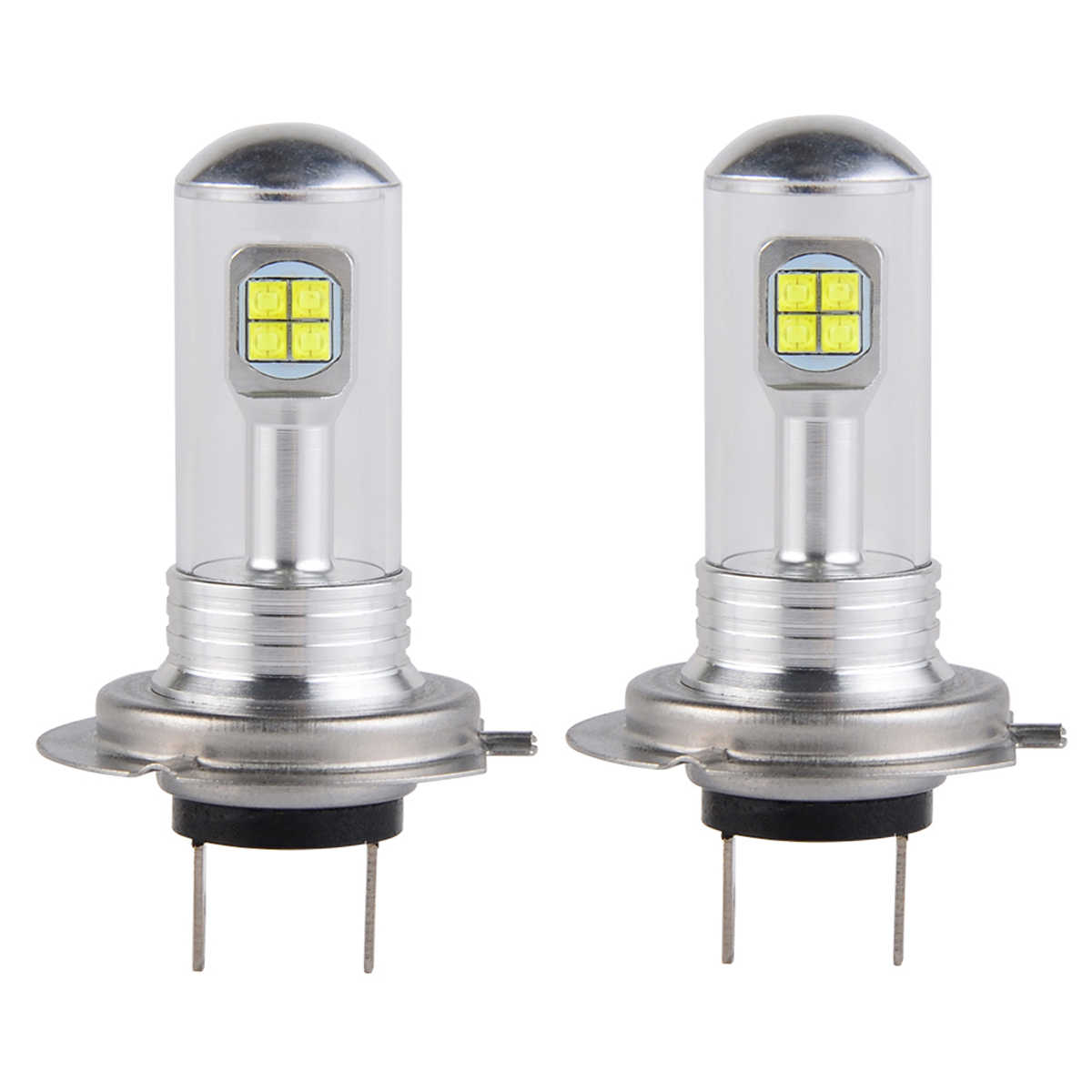 A Pair Nighteye H4 H7 H11  90056 80W With LED Lights 1500lm Fog Lamp Tail Driving Bulbs DRL Headlights Z90